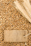 Granulo del frumento ed orecchio del punto Fotografia Stock