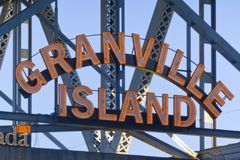 granville海岛温哥华 库存图片