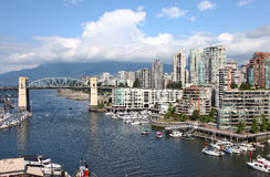 Granville Insel u. hohe Anstiege, Vancouver BC lizenzfreie stockfotografie