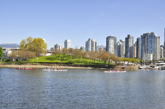 Granville Island with Downtown Vancouver in the background Royalty Free Stock Photography