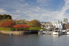 Granville Island in the fall Royalty Free Stock Photos