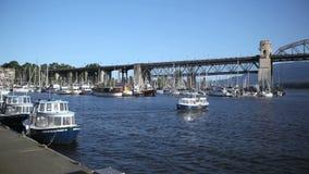 Granville Island Harbor stock video footage