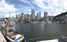 Granville Island & high rises dwellings, Vancouver Royalty Free Stock Photo