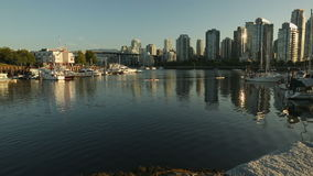 Granville Island Marina and Kayaks, Vancouver stock video