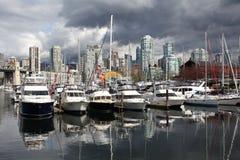 Granville Island Marina, Vancouver Stock Photos
