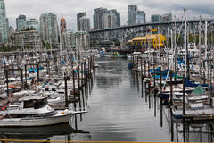 Granville Island Marina in Vancouver Royalty Free Stock Photography
