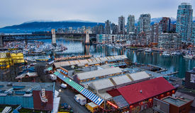 Granville Island Market from Above Royalty Free Stock Photos
