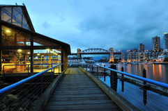 Granville Island Night Scene Royalty Free Stock Photography