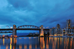Granville Island Night Scene Royalty Free Stock Image