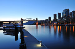Granville Island Night Scene Royalty Free Stock Photo