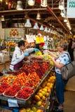 Granville Island Public Market em Vancôver, Canadá imagem de stock