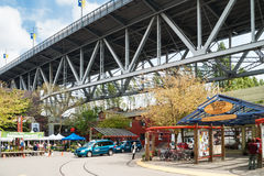 Granville Island Public Market i Vancouver, Kanada Arkivfoton