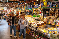 Granville Island Public Market a Vancouver, Canada Immagini Stock Libere da Diritti