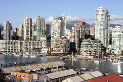 Granville Island Public Market and Yaletown. At sunset Royalty Free Stock Photography