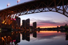 Granville Island Sunrise, Vancouver Stock Photo