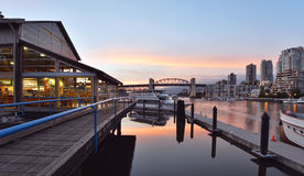 Granville Island Sunset Stock Photo