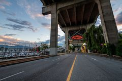 Granville Island in Vancouver, British Columbia stock photography