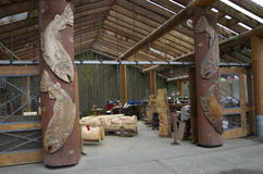 Granville Island wood carving workshop Royalty Free Stock Images
