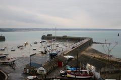 granville Marina de ville à marée basse photos libres de droits