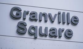 Granville Square em Vancôver - VANCÔVER - CANADÁ - 12 de abril de 2017 fotografia de stock royalty free