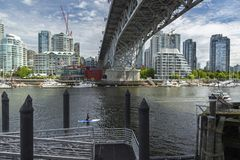 Granville Street Bridge and Yaletown in Vancouver BC Royalty Free Stock Image