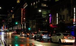 Granville Street la nuit image stock