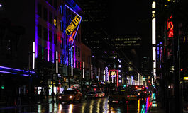 Granville Street at night Royalty Free Stock Images