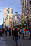 Granville Street during the 2010 Winter Olympic Games Royalty Free Stock Images