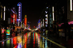 Granville ulica, Vancouver, b C Zdjęcia Stock