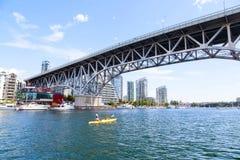 Granville ulicy most Nad Fałszywą zatoczką w Vancouver Obrazy Royalty Free