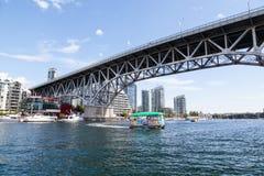 Granville wyspa Aquabus na Fałszywej zatoczce, Vancouver Obrazy Royalty Free