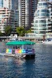 Granville wyspa Aquabus na Fałszywej zatoczce, Vancouver Zdjęcie Stock