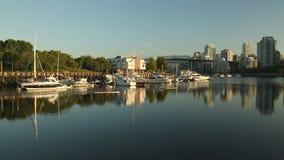 Granville wyspy Marina i Paddlers, Vancouver Zdjęcie Royalty Free