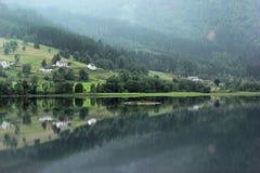 Granvinsvatnet lake in Hordaland county, Norway.  royalty free stock photos