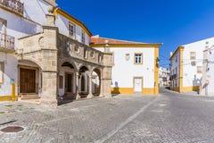 Grao预先的游廊在Crato,女低音阿连特茹,葡萄牙 免版税库存照片
