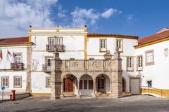 Grao预先的游廊在Crato,女低音阿连特茹,葡萄牙 免版税图库摄影