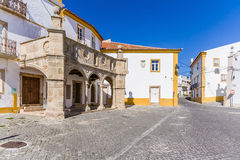 Grao-Prior Veranda in Crato, Alto Alentejo, Portugal. This veranda was the stage of the marriage of King Dom Manuel I, the most important king of the Sea Royalty Free Stock Photo