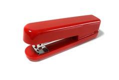 Grapadora roja Foto de archivo libre de regalías