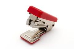 Grapadora roja Imagen de archivo libre de regalías