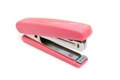 Grapadora rosada foto de archivo libre de regalías