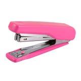 Grapadora rosada fotografía de archivo libre de regalías