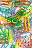 Grapas coloridas Imagen de archivo