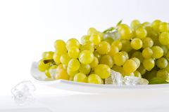 Grape. Bunch of grapes on plate Stock Photography