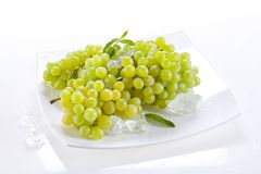 Grape. Bunch of grapes on plate Stock Photo