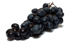 Grape. Bunch of grapes of red wine isolated on white Stock Images