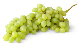 Isolated white grapes. Bunch of white grape isolated on white background stock image