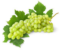 Isolated white grapes