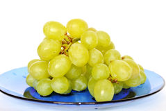 Grape. Branch of the sour grapes rests upon plate Royalty Free Stock Photography