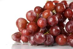 Grape. Wet red grape close up Royalty Free Stock Image