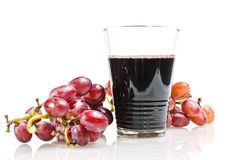 Grape. And  juice ,concept for healthy drink, on white background Stock Image
